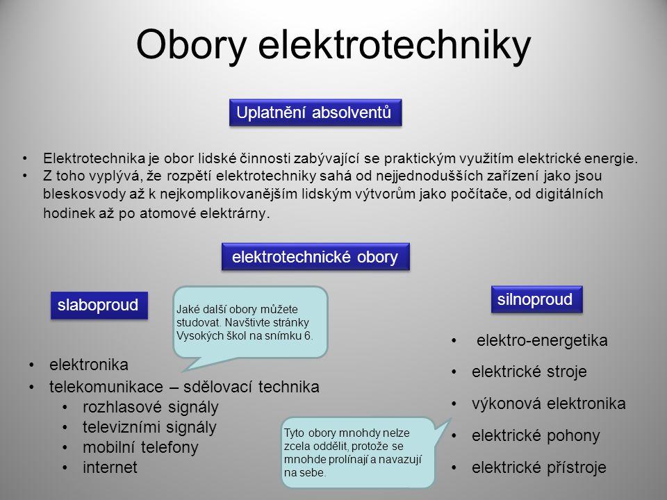 Obory elektrotechniky