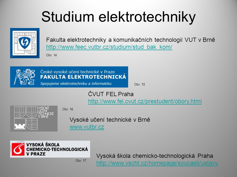 Studium elektrotechniky