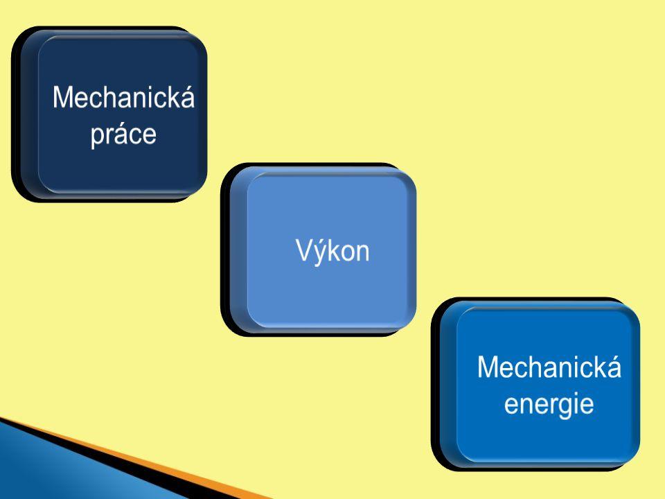 Mechanická práce Výkon Mechanická energie