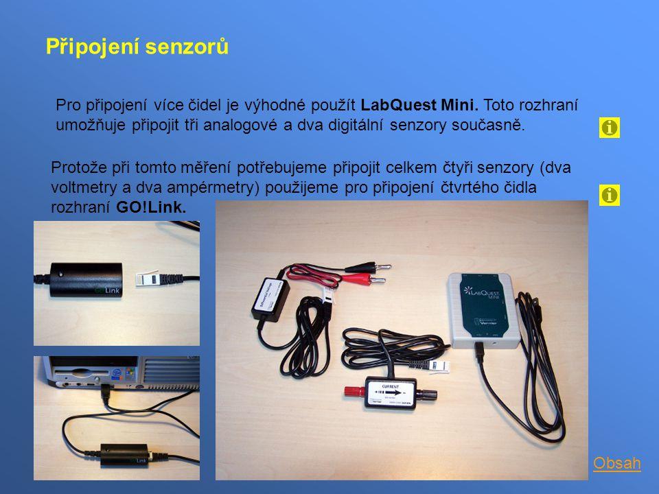 Připojení senzorů