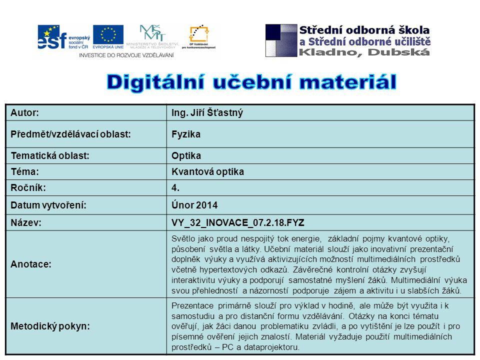 Digitální učební materiál