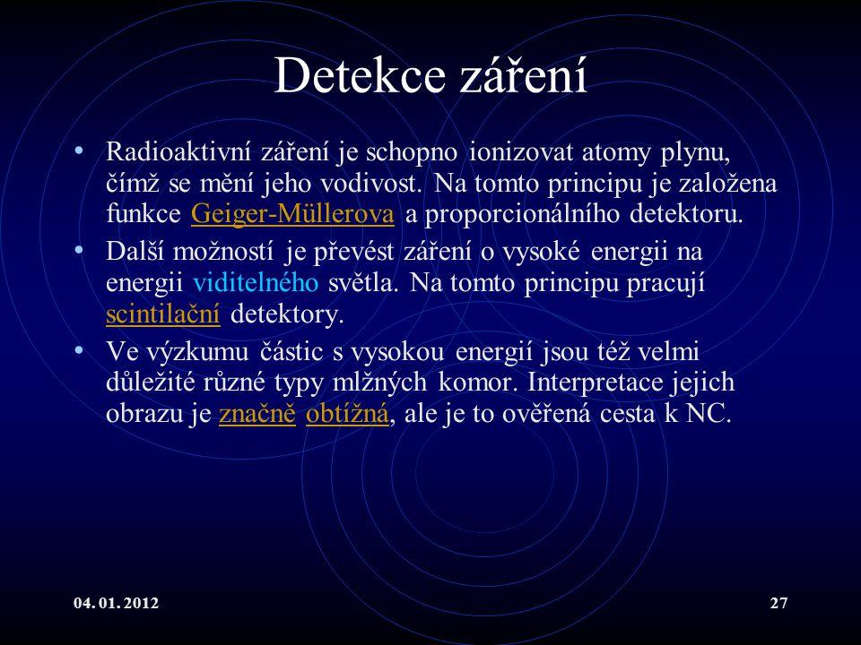 Detekce záření