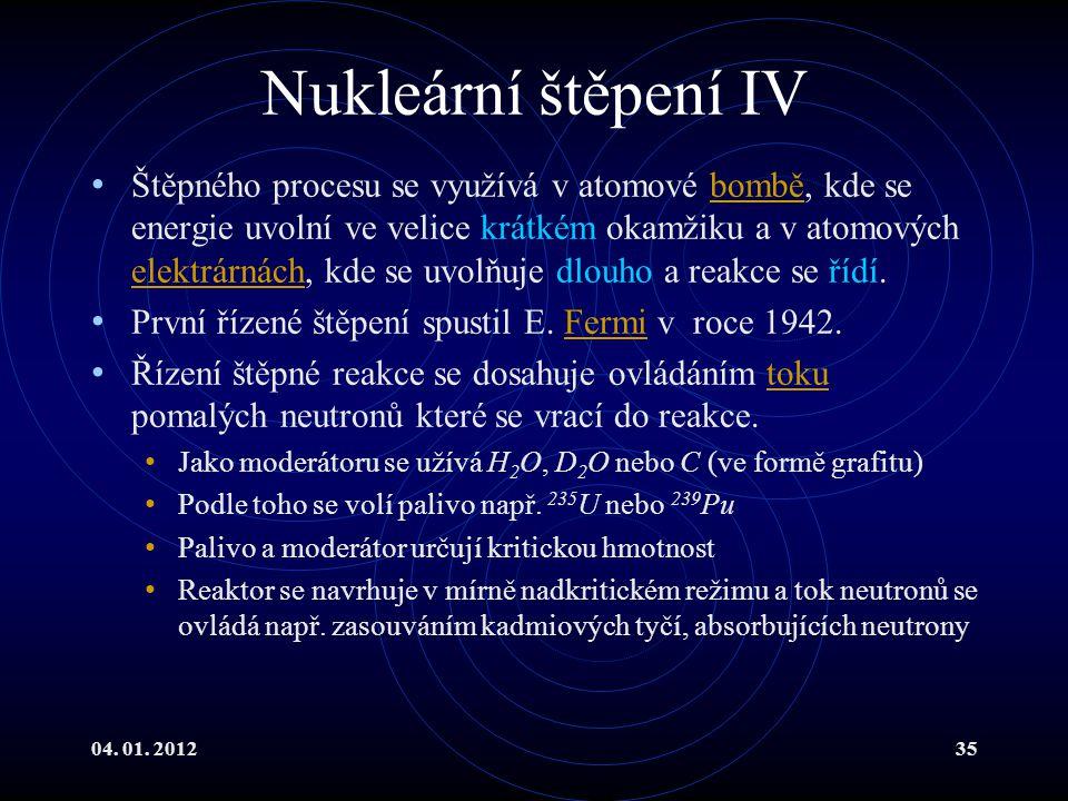 Nukleární štěpení IV