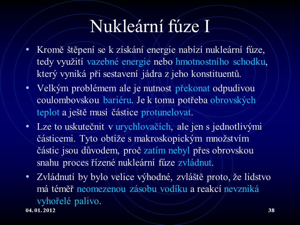 Nukleární fúze I