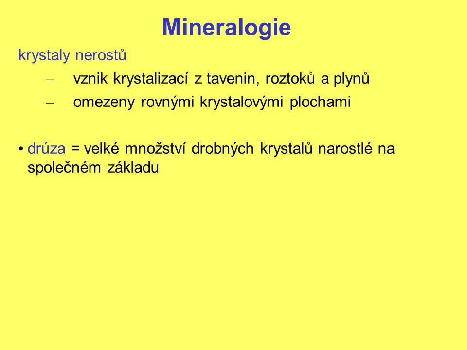 Mineralogie krystaly nerostů