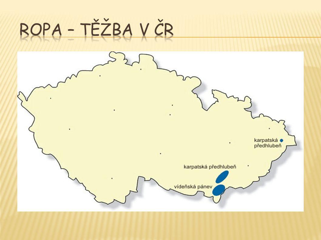 Ropa – těžba v ČR