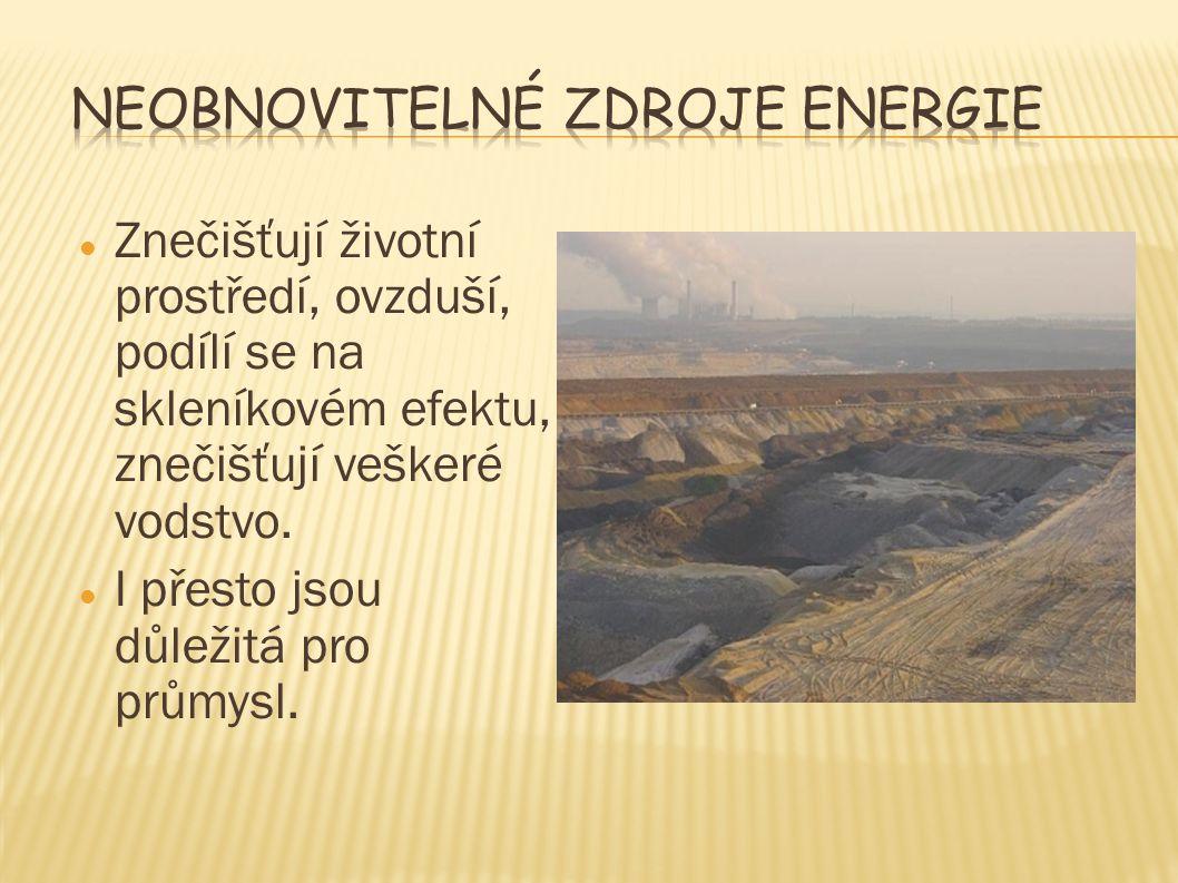 Neobnovitelné zdroje energie