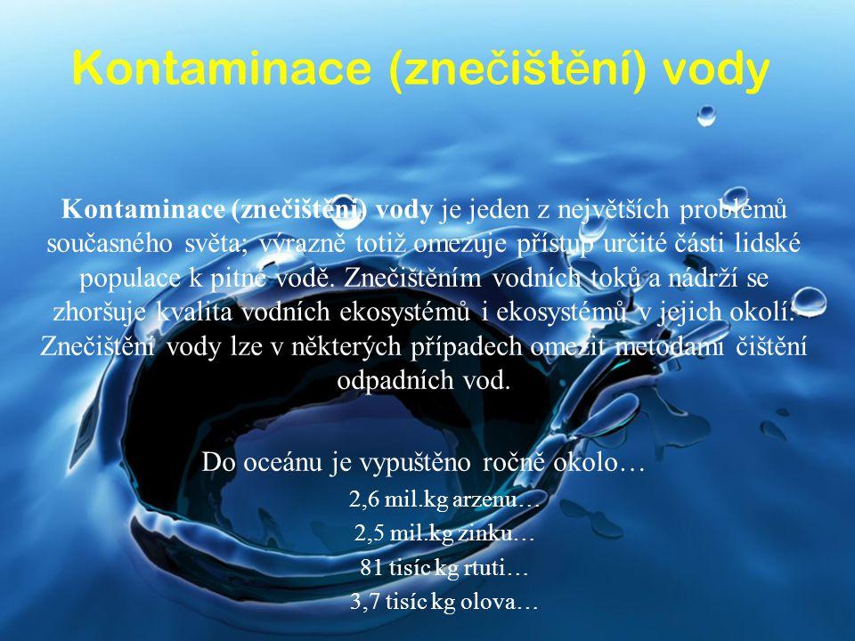 Kontaminace (znečištění) vody