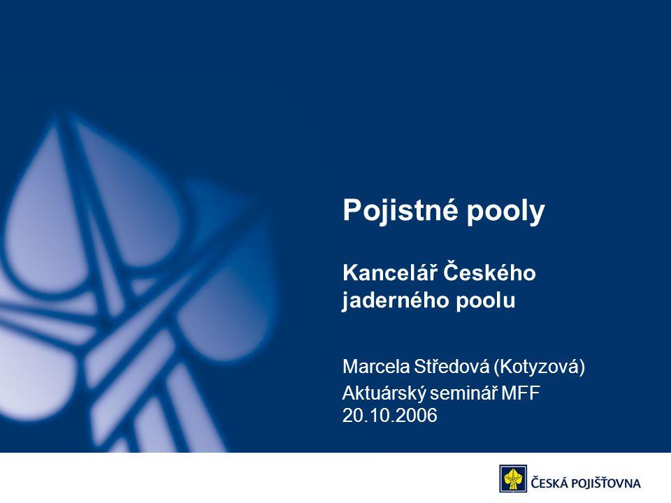 Pojistné pooly Kancelář Českého jaderného poolu