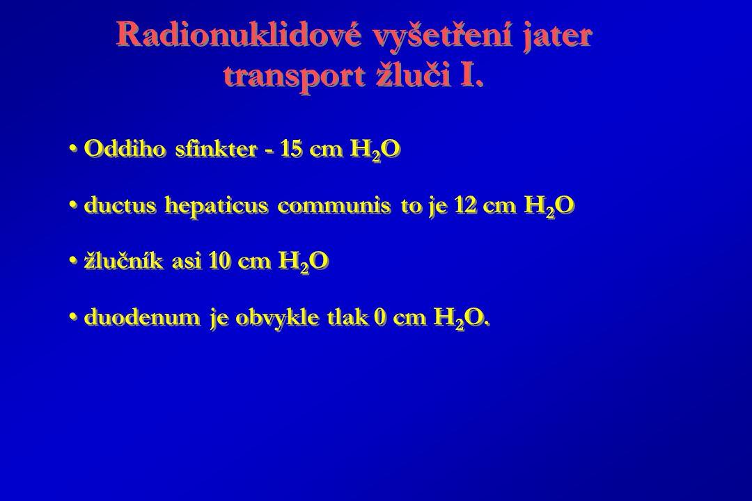 Radionuklidové vyšetření jater transport žluči I.