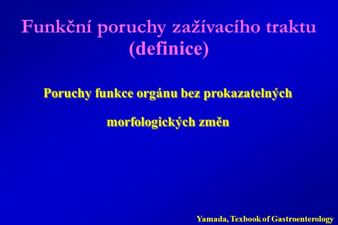 Funkční poruchy zažívacího traktu (definice)