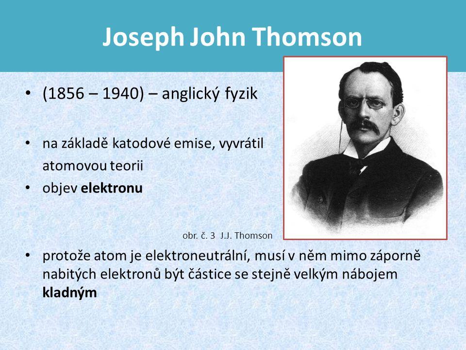Joseph John Thomson (1856 – 1940) – anglický fyzik