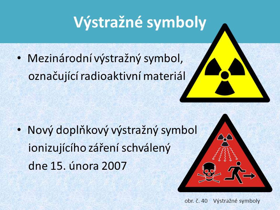Výstražné symboly Mezinárodní výstražný symbol,
