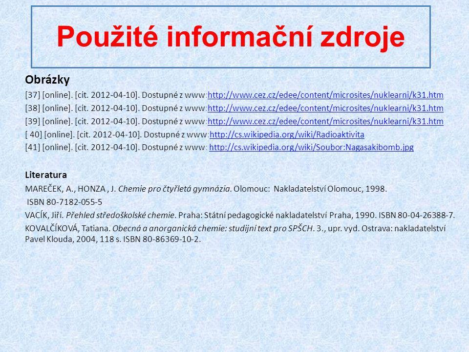 Použité informační zdroje