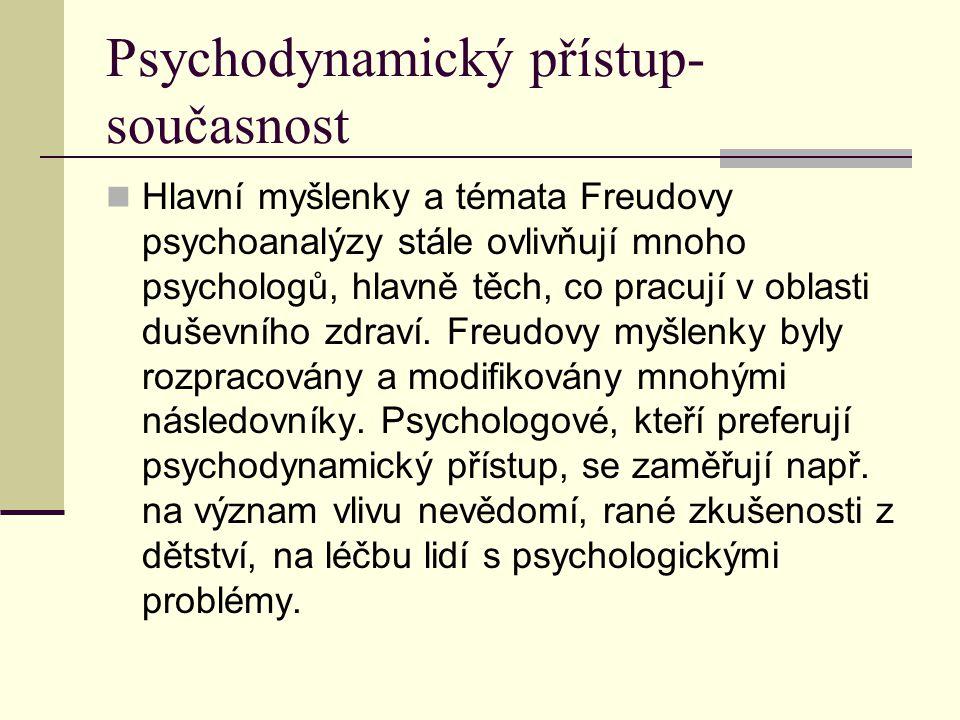 Psychodynamický přístup-současnost