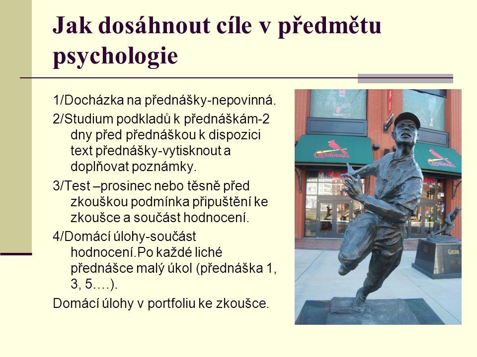 Jak dosáhnout cíle v předmětu psychologie