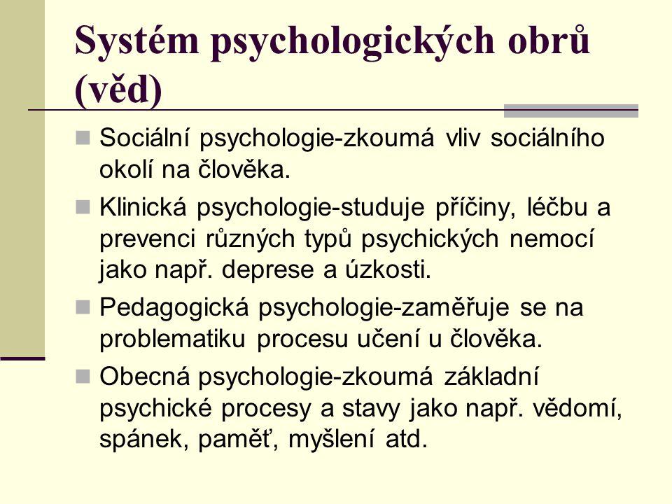 Systém psychologických obrů (věd)