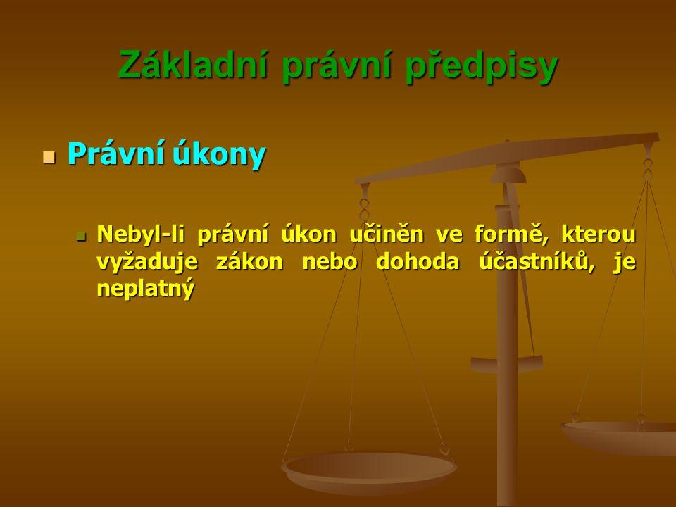 Základní právní předpisy