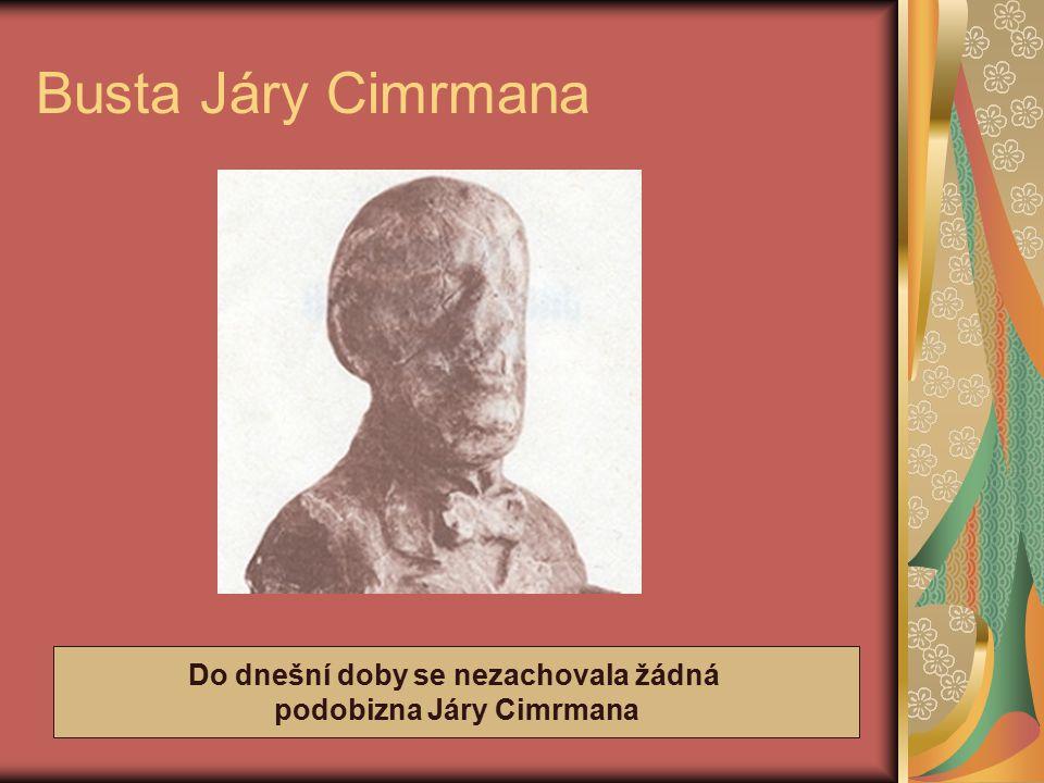 Do dnešní doby se nezachovala žádná podobizna Járy Cimrmana