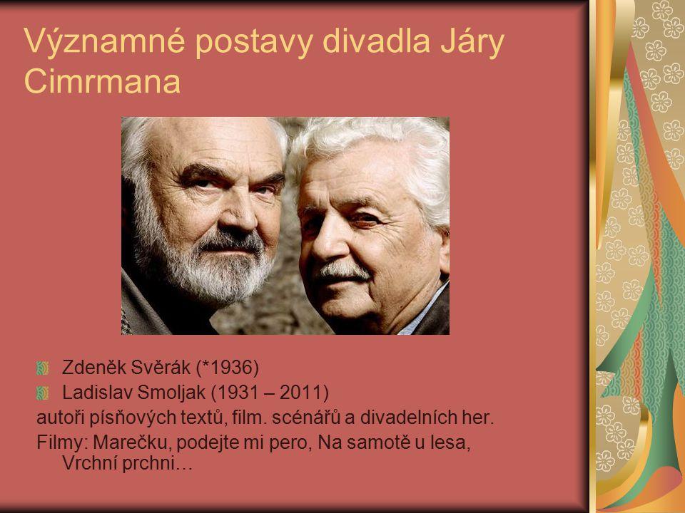 Významné postavy divadla Járy Cimrmana
