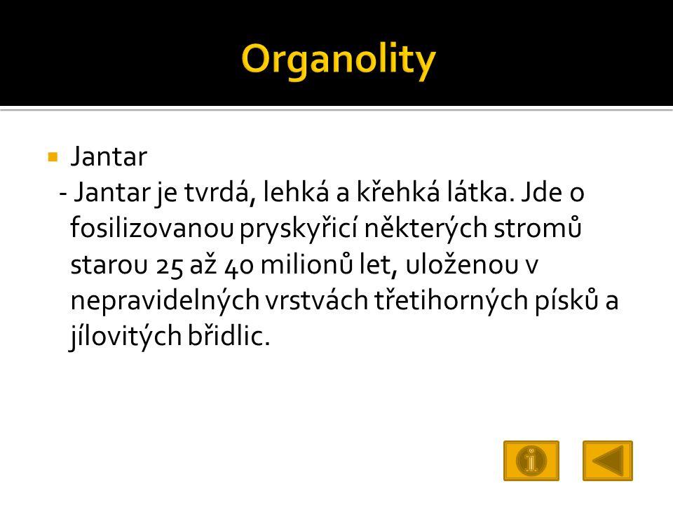 Organolity Jantar.