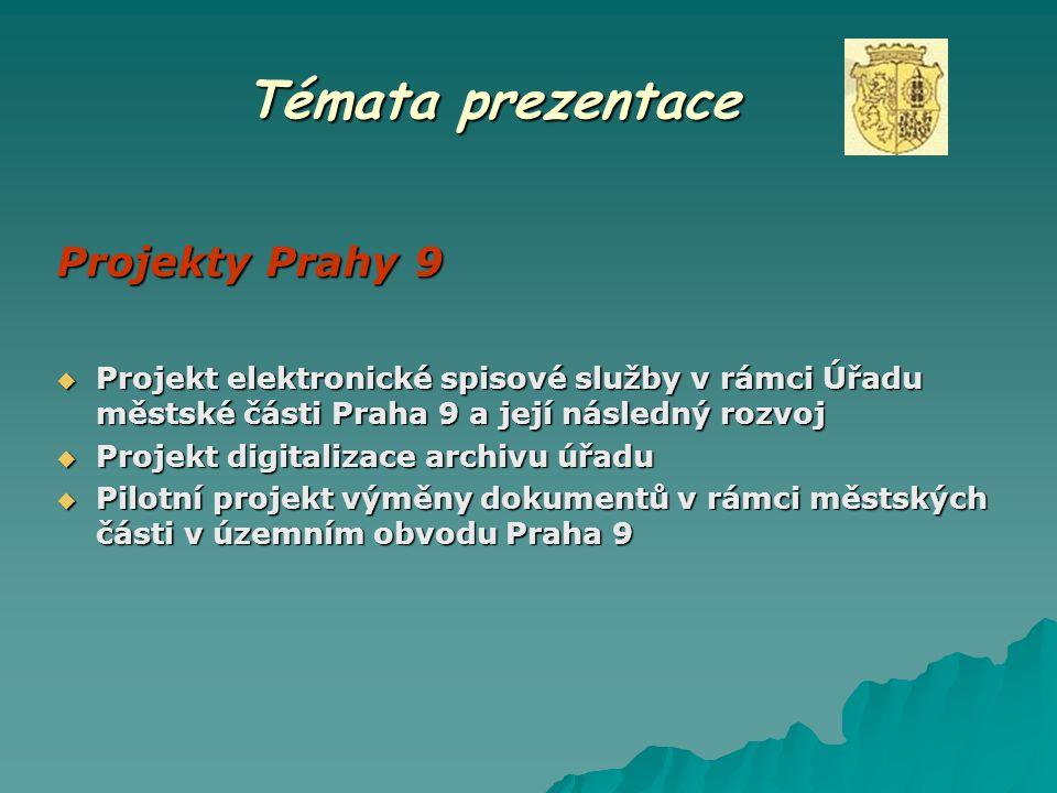 Témata prezentace Projekty Prahy 9