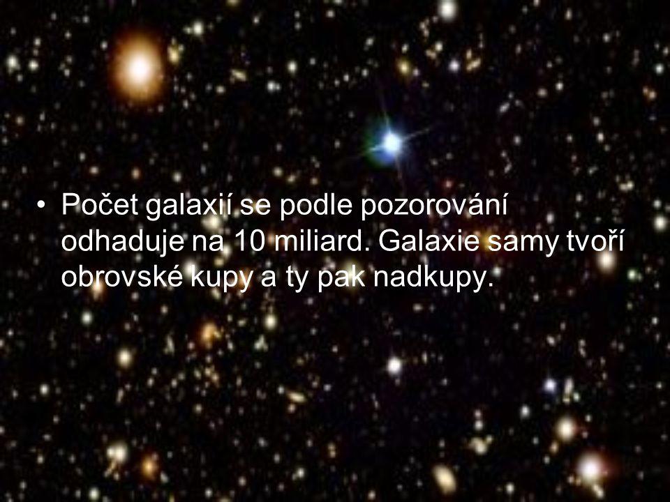 Počet galaxií se podle pozorování odhaduje na 10 miliard