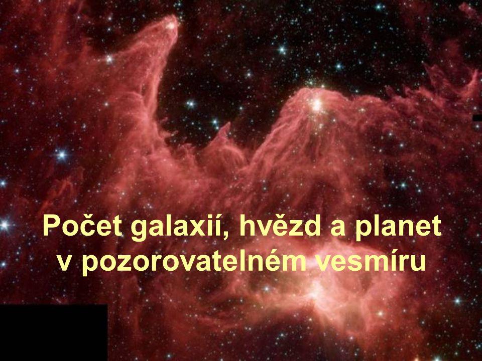 Počet galaxií, hvězd a planet v pozorovatelném vesmíru