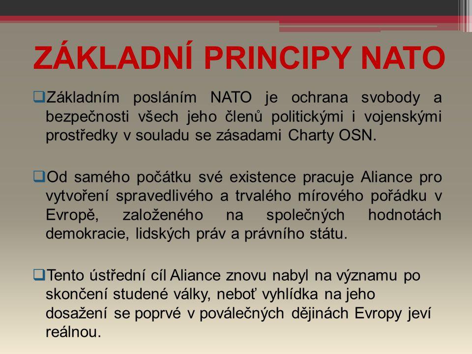 ZÁKLADNÍ PRINCIPY NATO