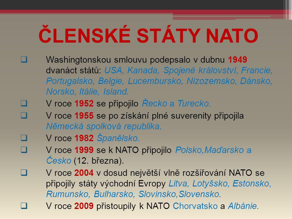 ČLENSKÉ STÁTY NATO