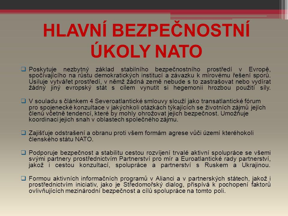 HLAVNÍ BEZPEČNOSTNÍ ÚKOLY NATO