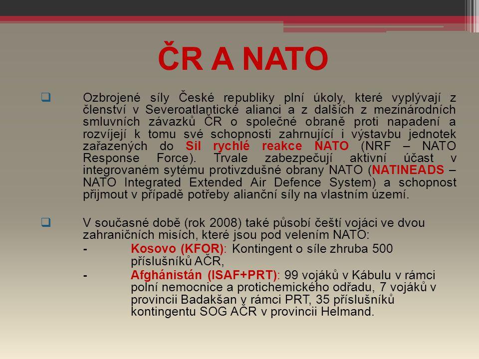 ČR A NATO