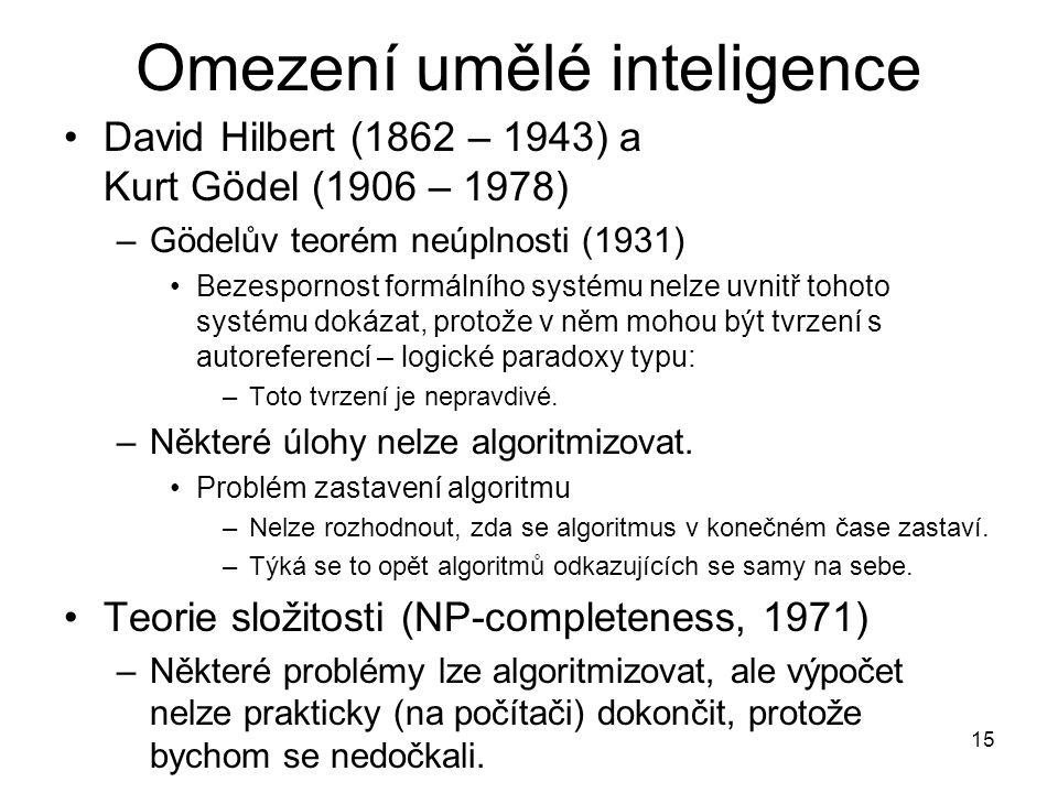 Omezení umělé inteligence