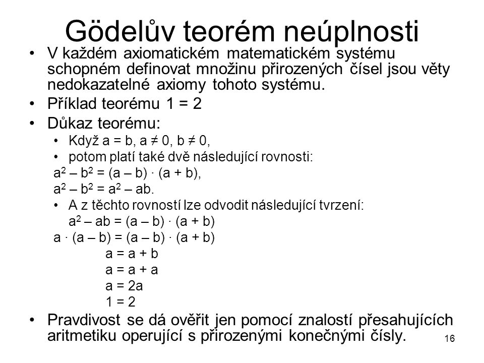 Gödelův teorém neúplnosti