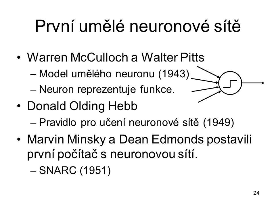První umělé neuronové sítě