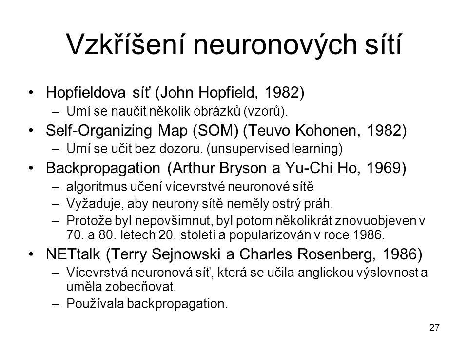 Vzkříšení neuronových sítí