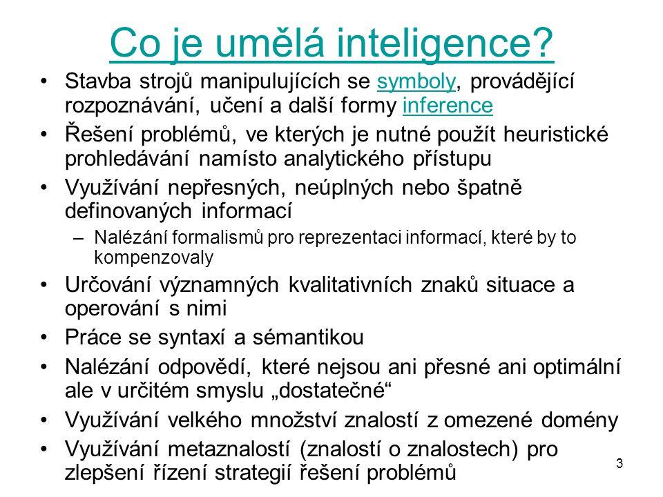 Co je umělá inteligence