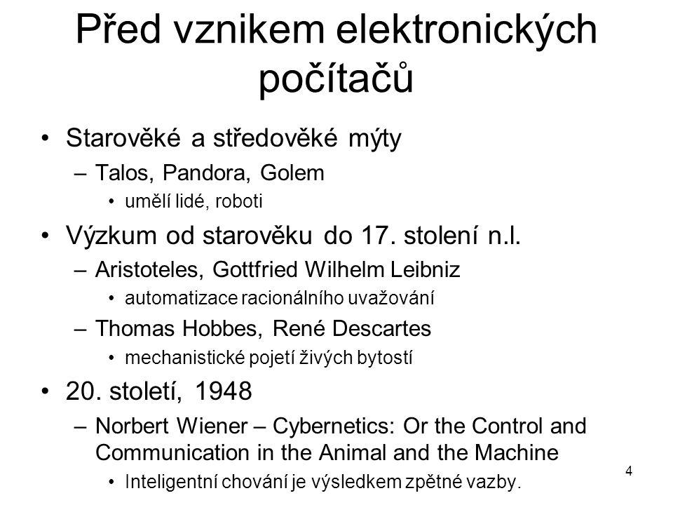 Před vznikem elektronických počítačů