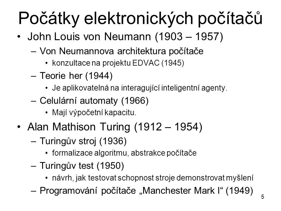 Počátky elektronických počítačů