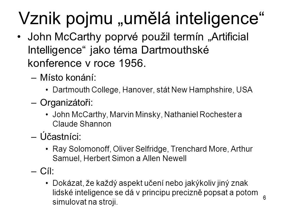 """Vznik pojmu """"umělá inteligence"""
