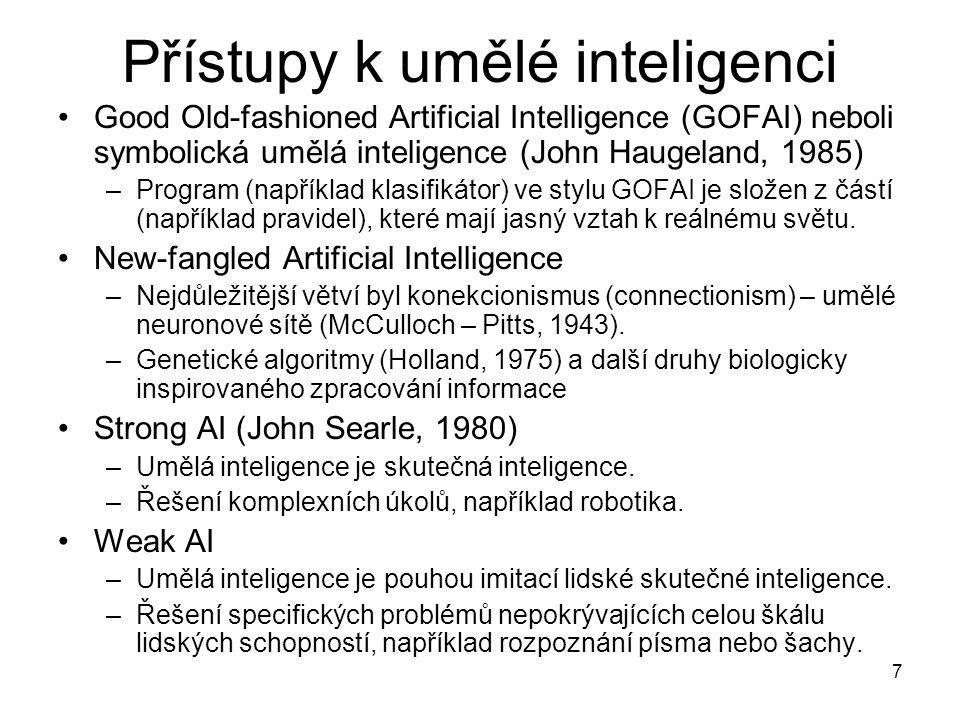 Přístupy k umělé inteligenci