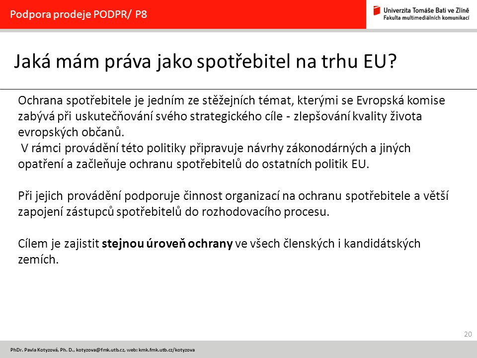 Jaká mám práva jako spotřebitel na trhu EU