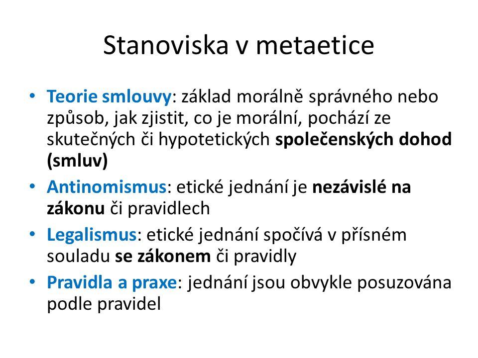 Stanoviska v metaetice