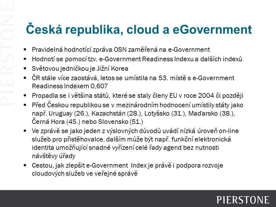 Česká republika, cloud a eGovernment