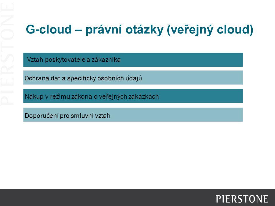 G-cloud – právní otázky (veřejný cloud)