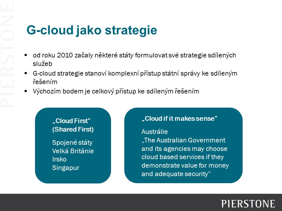 G-cloud jako strategie