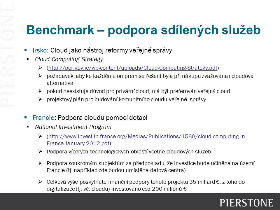 Benchmark – podpora sdílených služeb