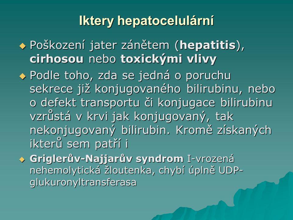 Iktery hepatocelulární
