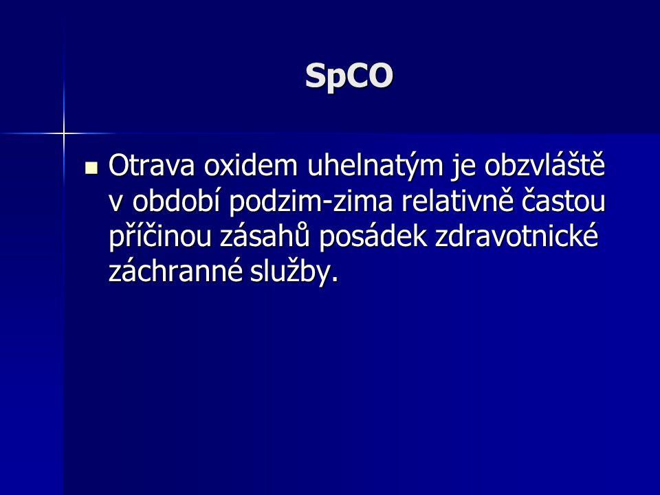 SpCO Otrava oxidem uhelnatým je obzvláště v období podzim-zima relativně častou příčinou zásahů posádek zdravotnické záchranné služby.