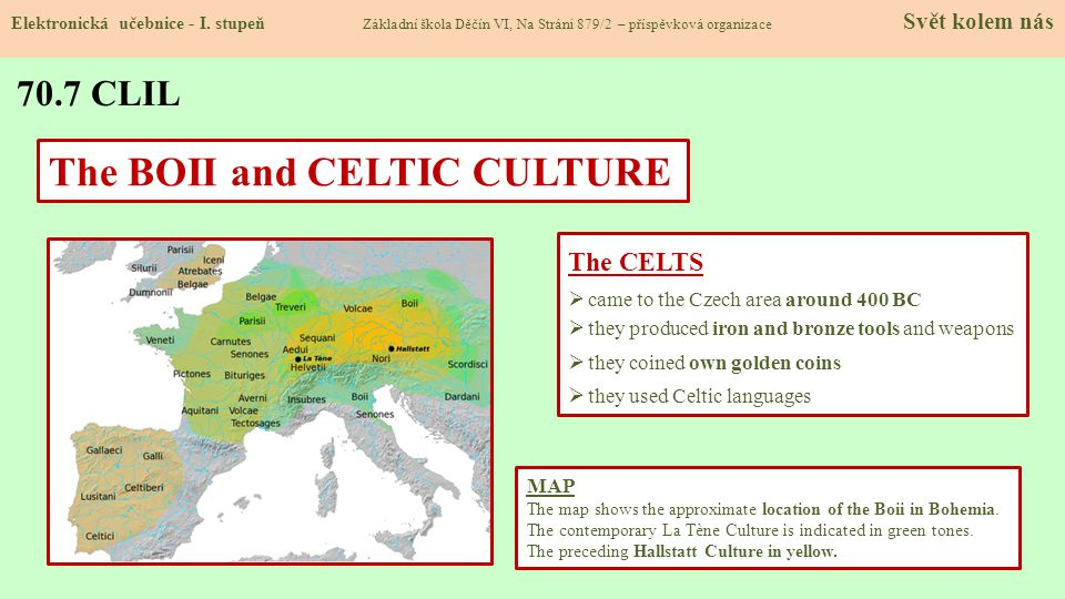 The BOII and CELTIC CULTURE